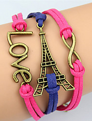 KAILA The New Fashion Women Woven  Vintage / Cute / Party / Casual Alloy / Fabric / Leather Braided/Cord Bracelet