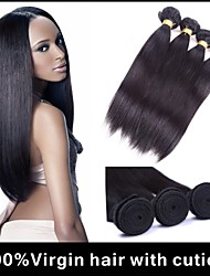 3Pcs/lot Malaysian Virgin Hair Straight Weaving Natural Black