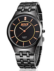 Men's Japanese Quartz Black Steel Band Water Resistant Dress Watch Jewelry Cool Watch Unique Watch Fashion Watch