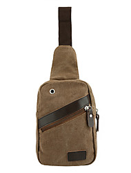 Canvas Bag Zipper Small Chest Pack Casual Outdoor Travel Hiking Sport Shoulder Bag