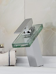 Contemporary LED Faucet With Chrome Finish