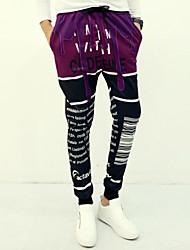 Pantaloni della tuta Uomo Casual Con stampe Altro