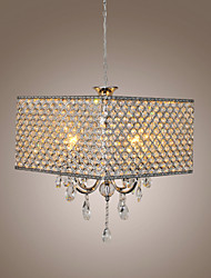 60 Chandelier ,  Modern/Contemporary Drum Painting Feature for Crystal Metal Living Room Bedroom Dining Room