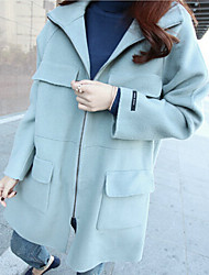 Women's Solid Blue Trench Coat