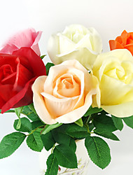 Bloom Roses in Plastic Artificial Flower for Home Decoration (1 Piece)