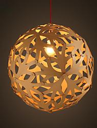 Modern Art Wood Ball Pendant light Rural Industrial Vintage Wood Lighting Lamp Round Ball RH LOFT Bar Decoration Lamps