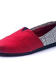 Women's Shoes Canvas Flat Heel Comfort Loafers Outdoor/Casual Multi-color