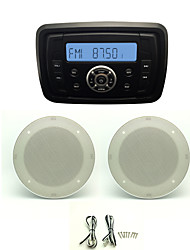 Waterproof Marine Radio Stereo ATV UTV Audio Receiver+4 Inch White Waterproof Speakers