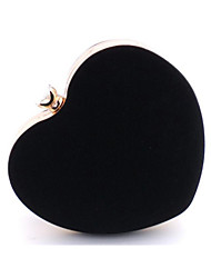 Women Evening Bag Velvet All Seasons Event/Party Minaudiere Crystal/ Rhinestone Kiss Lock Black Ruby