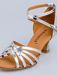 Non Customizable Women's Dance Shoes Latin/Yoga/Dance Sneakers/Modern/Swing Shoes/Standard Shoes Suede Cuban Heel