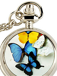 Woman Quartz Butterfly Design Pocket Watch Cool Watches Unique Watches