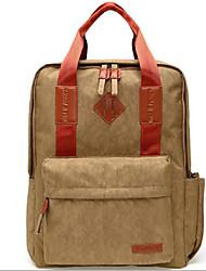 TINYAT 14 15.6 Inch Nylon Computer Backpack School Student Backpack Men Women  Laptop Bag Backpack Handbag T802 Brown