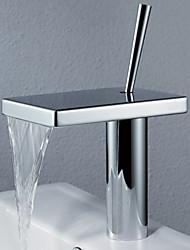 Centerset poignée seul trou dans salle de bain chrome robinet évier