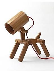 The puppy Bamboo Lamp Reading Light Night Light