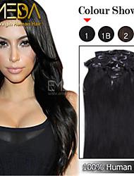 hochwertigen 70g brasilianisches reines Haar 7pcs / set african american Klipps in der Menschenhaarverlängerung 14 '' - 22 ''
