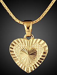 ATHENAA ® 18K Gold Vacuum Plating Gold Retro European Pendant Necklace