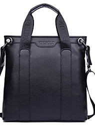 Men Other Leather Type Baguette Tote - Brown/Black