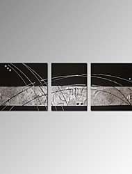 VISUAL STAR®Abstract 3 pcs Oil Painting Simple Line Hand Paint Canvas Art Ready To Hang