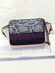 Women PU Sling Bag Shoulder Bag - White / Pink / Green