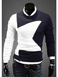 Suéteres ( Algodón Compuesto )- Casual Cuello alto Manga Larga para Hombre