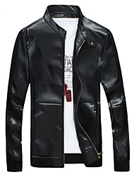 Men's New Korean Version of Slim Casual Leather Jacket