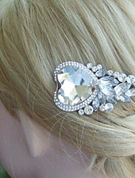 Wedding Headpiece Silver-tone Clear Rhinestone Crystal Bridal Hair Comb Bridal Hair Accessories Wedding Hair Jewelry