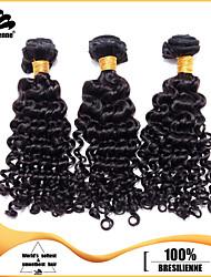 "3pcs/lot 12""-30"" Brazilian Virgin Hair Natural Black Waka Waka Curl Human Hair Extensions Hair Weaves Tangle Free"