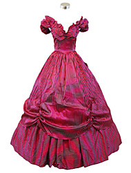 Steampunk®Wine Red Halloween Party Dress Civil War Southern Belle Ball Gown Dress