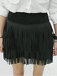 Women's Solid Black Skirts , Vintage Mini