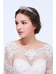 Women's Sterling Silver / Alloy Headpiece - Wedding / Special Occasion / Casual Tiaras 1 Piece