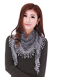 Women's Elegant Embroidered Lace  Shawl Scarf,Tassel,Street Chic,Solid Color,Spring,Summer