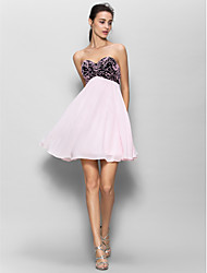Lanting Short/Mini Chiffon Bridesmaid Dress - Multi-color A-line Sweetheart