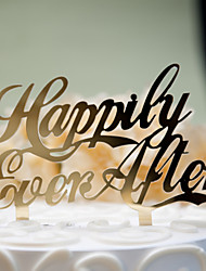 Mirror Surface Cake Topper Happily Ever After (2 color)