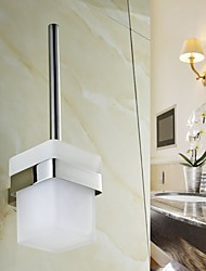 Toilet Brush Holder , Contemporary Mirror Polished Wall Mounted