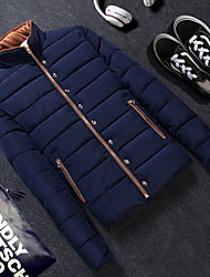 Men's Stand Collar Fashion Casual Long Sleeved Padded Jacket
