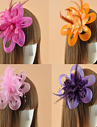 Women's Feather Flower Shape Fascinators (Assorted Color)