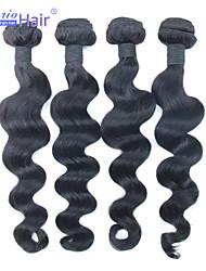 non trasformati peruviano capelli vergini sciolti onda 4 pc del lotto 100% i capelli umani tessitura