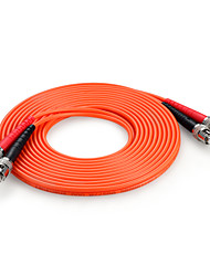 Shengwei®  ST(UPC)-ST(UPC) Multimode Double Core Fiber Patch Cord 3M/5M/10M