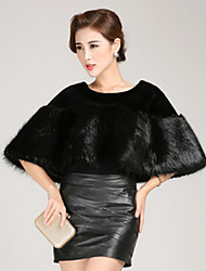 Women Faux Fur Shawl & Wrap , Lined