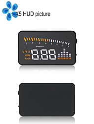 NEW X5 3.5 Inch High-definition Multi-color Car HUD Head Up Display Alarm Security System with OBD2 Interface