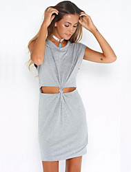 Women's Dress , Casual Round Neck