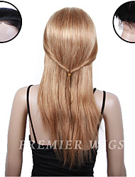 8A Premierwigs 8''-24'' European Remy Straight Silk Base Top Lace Front Human Hair Wigs With Baby Hair For Black Women