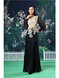 ts couture® noche formal del vestido de una línea de joyas palabra de longitud gasa / cordón / satén con