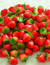 6 Pcs The Simulation Of Strawberry Fruit Plastic Fruit Artificial Flowers