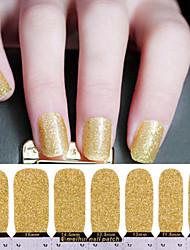 10PCS Fashion Golden Nail Art Glitter Sticker