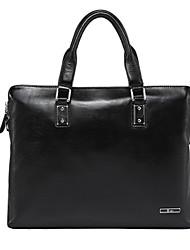 Formal / Casual / Oficina y Trabajo - Bolso de Hombro / Tote / Portafolios / Bolsa de Portátil / Cross Body Bag - Piel de Vaca - Negro -