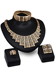 Wedding Accessories Gold Plated jewellery Floating Charms Vogue Woman Costume African Jewelry Sets