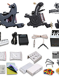 Dragonhawk® Starter Tattoo kit 2 Tattoo Machine Power Supply Needles