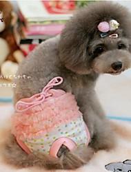Gatos / Perros Pantalones Amarillo / Rosado Ropa para Perro Primavera/Otoño Lunares Boda / Cosplay