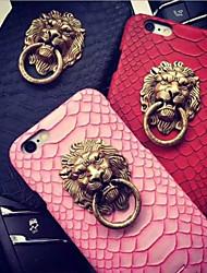 лев рисунок головы змеиной задней стороны обложки для Iphone 6с 6 плюс с подставкой